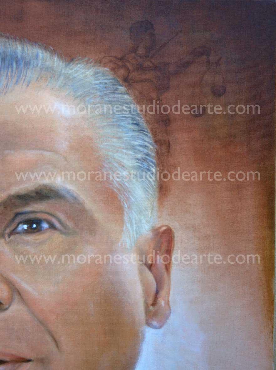 Retrato al oleo Macedo de la Concha