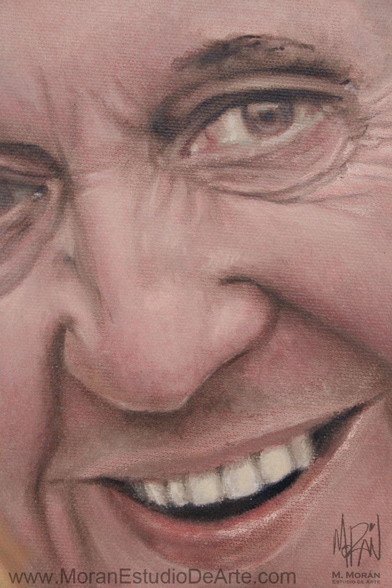 Papa Francisco Retrato oleo sobre tela
