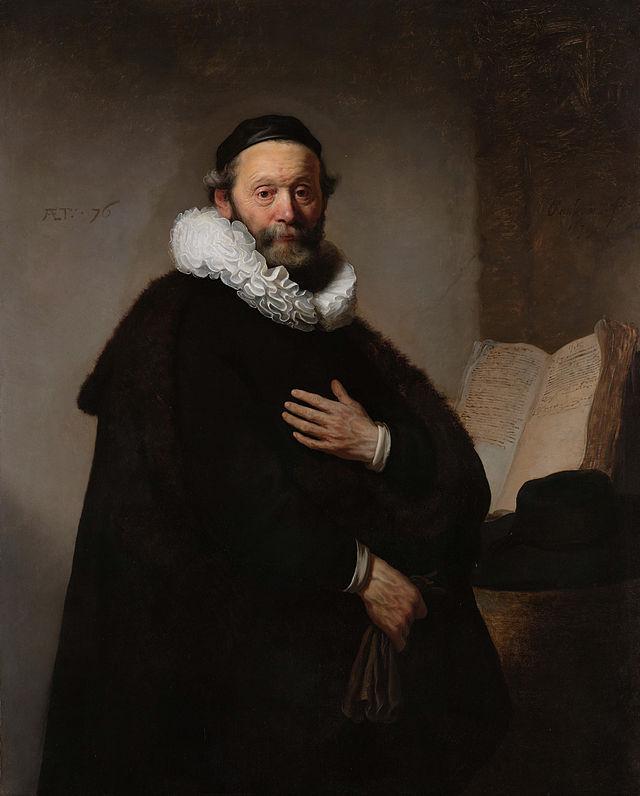 Retrato de Johannes Wtenbogaert, Oleo sobre tela 1633, Autor  Rembrandt