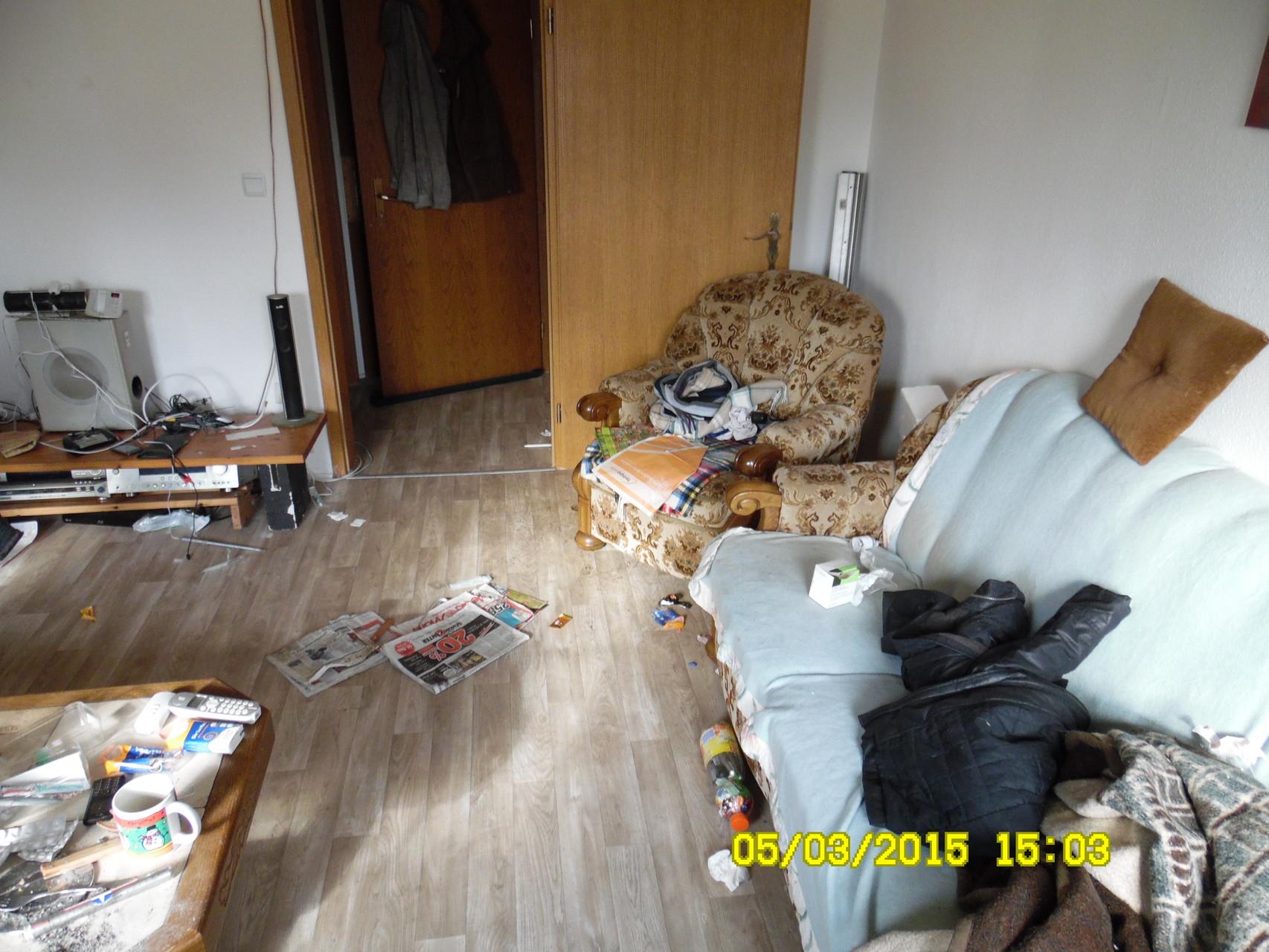 Das Wohnzimmer war zügig geräumt