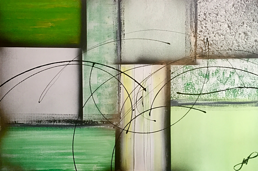 100 x 150 cm / layers / Canvas and Mixmedia / 2015