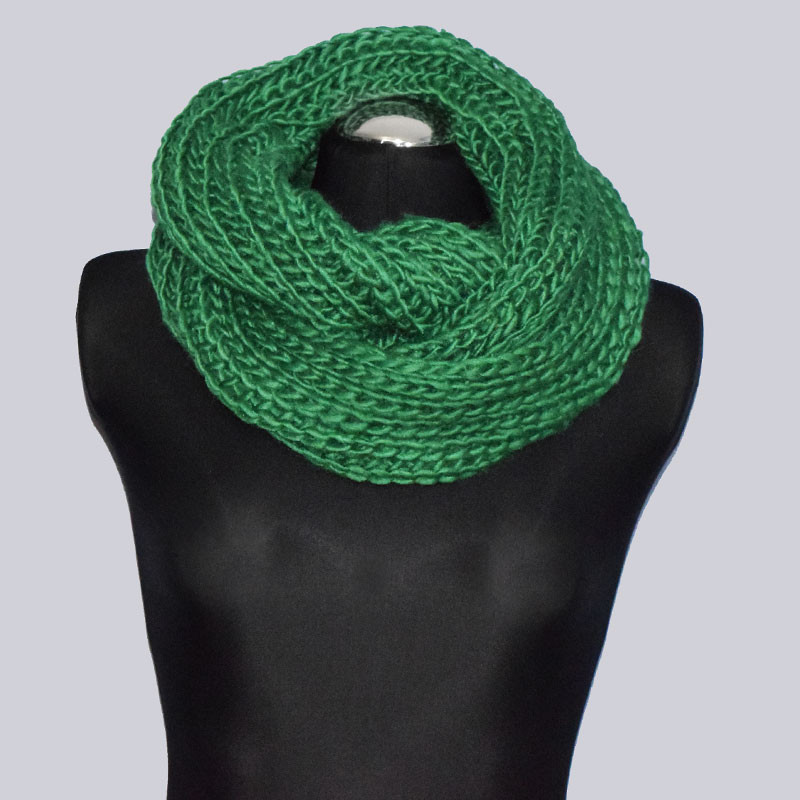 Schöner Loop Schal, grün.
