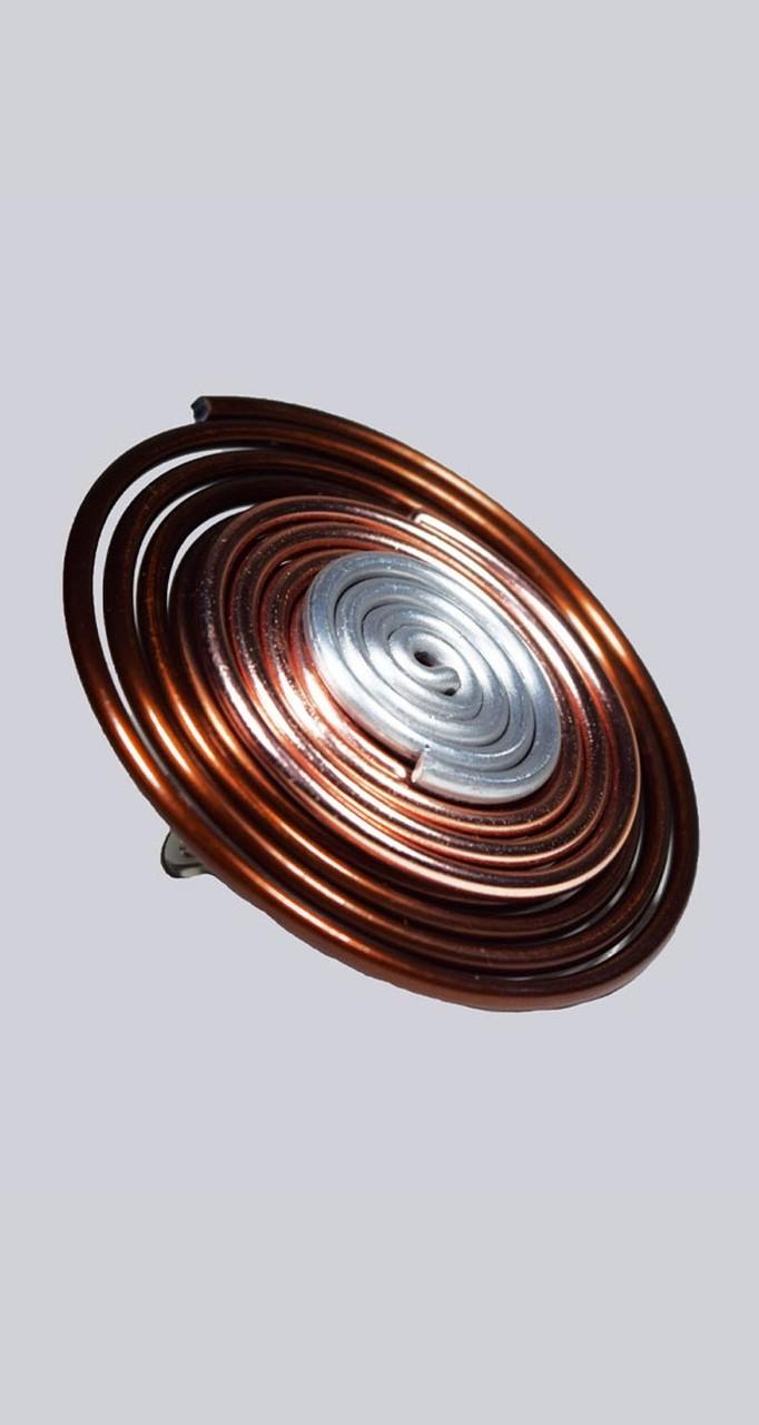 Extravaganter, großer Lagenlook Ring, braun-, rosegold- und silberfarben. My-Levanjo Design.