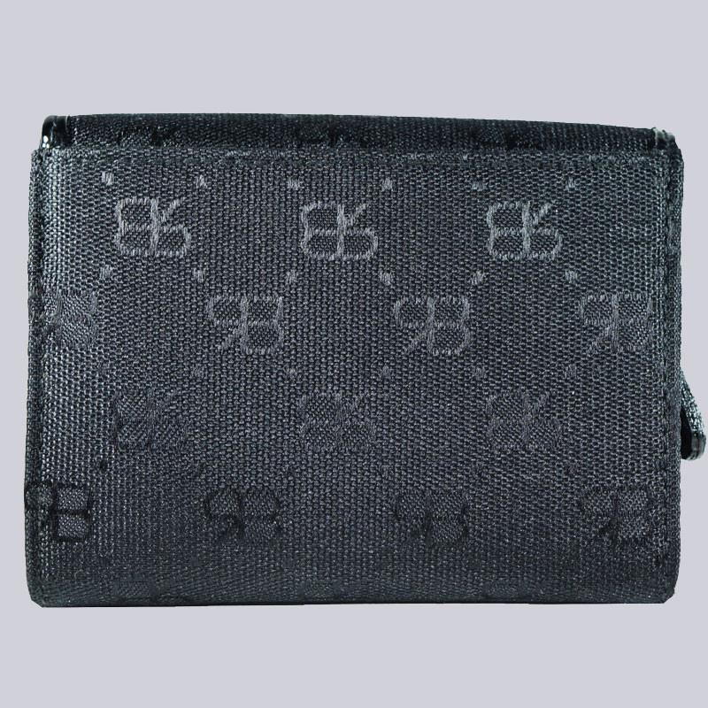 Schönes, schwarzes Portemonnaie, schwarz, goldfarben von Renato Balestra