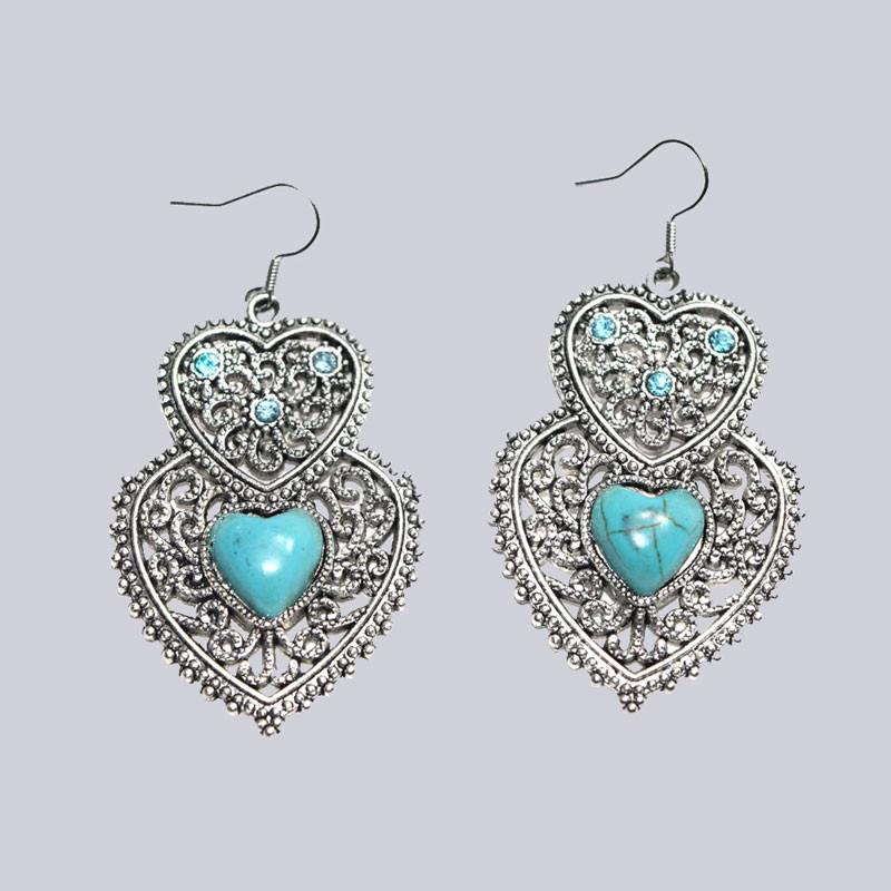 Wunderschöne Ohrringe mit Steinbesatz. Toller Modeschmuck.