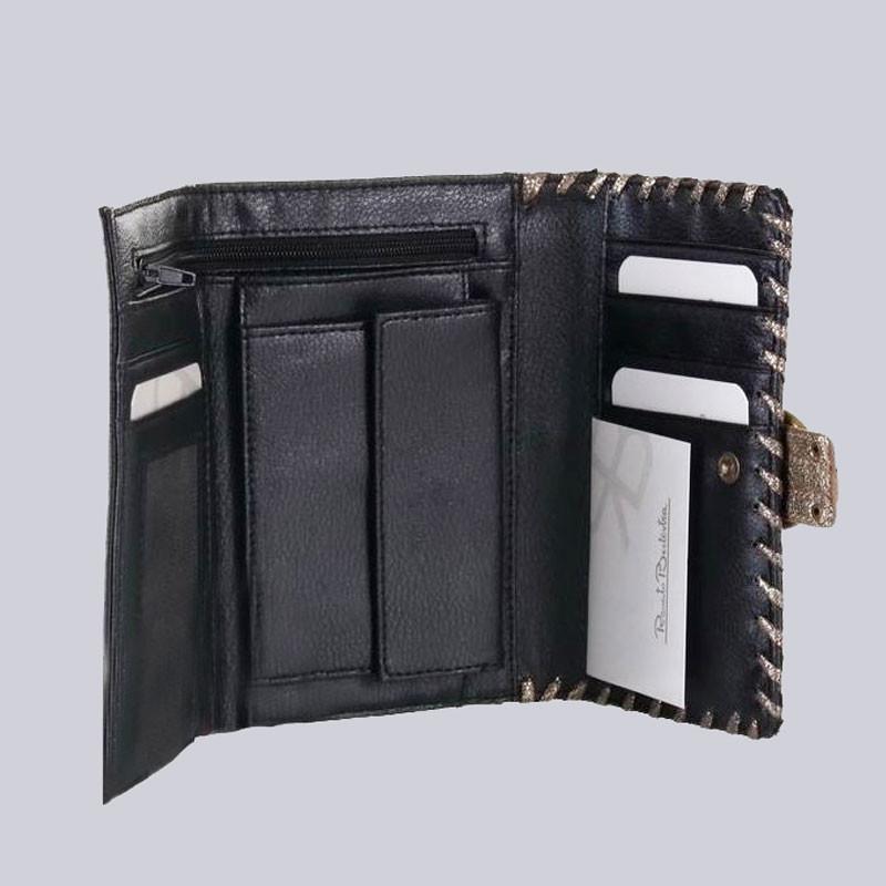 Schönes Portemonnaie/Geldbörse, schwarz/goldfarben
