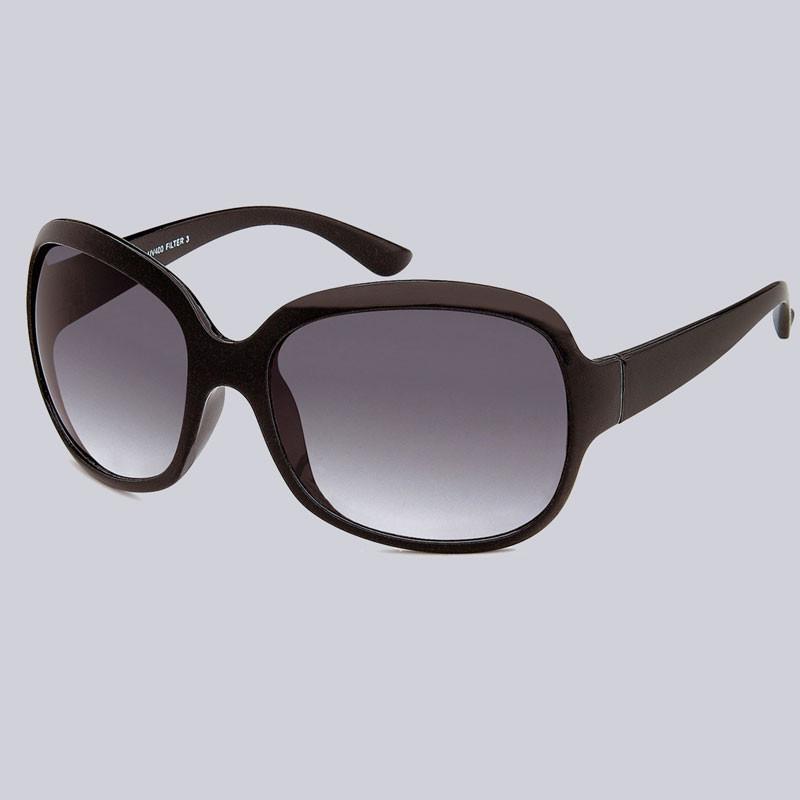Schöne, schwarze Sonnenbrille für Damen.