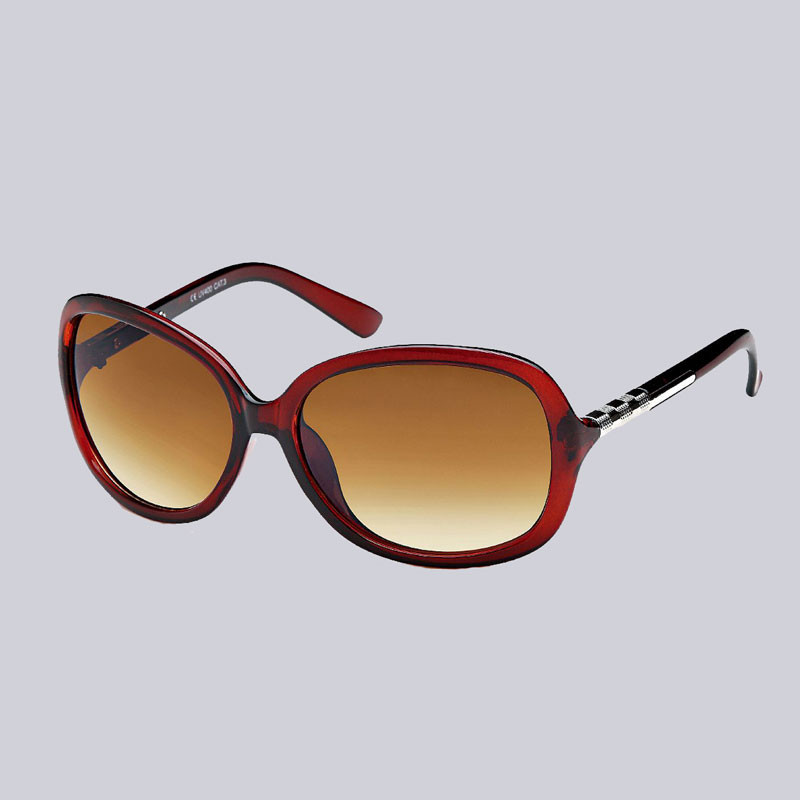 Wunderschöne, braune Sonnenbrille mit getöntem Verlauf und silberfarbenen Verzierungen an den Bügeln. www.My-Levanjo.de