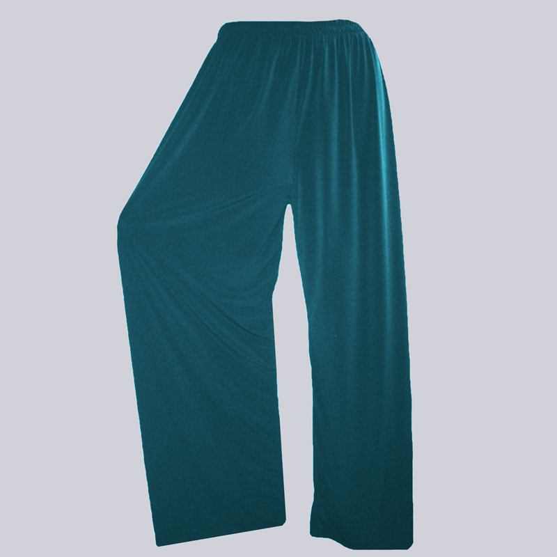 Wunderschöne, weite Slinky Marlene Hose, grün in großen Größen. Tolle XXL Damenmode.