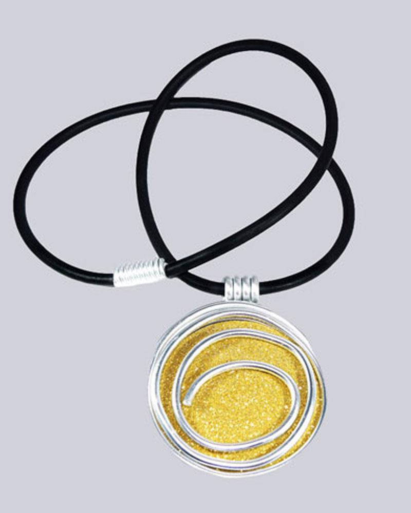 Wunderschöne Lagenlook Halskette Joell, silberfarben, schwarz. goldfarben. Extravaganter Modeschmuck. Designed by My-Levanjo.