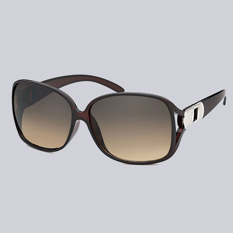 Sonnenbrille für Damen mit schönen Metall-Verzierungen an den Bügeln