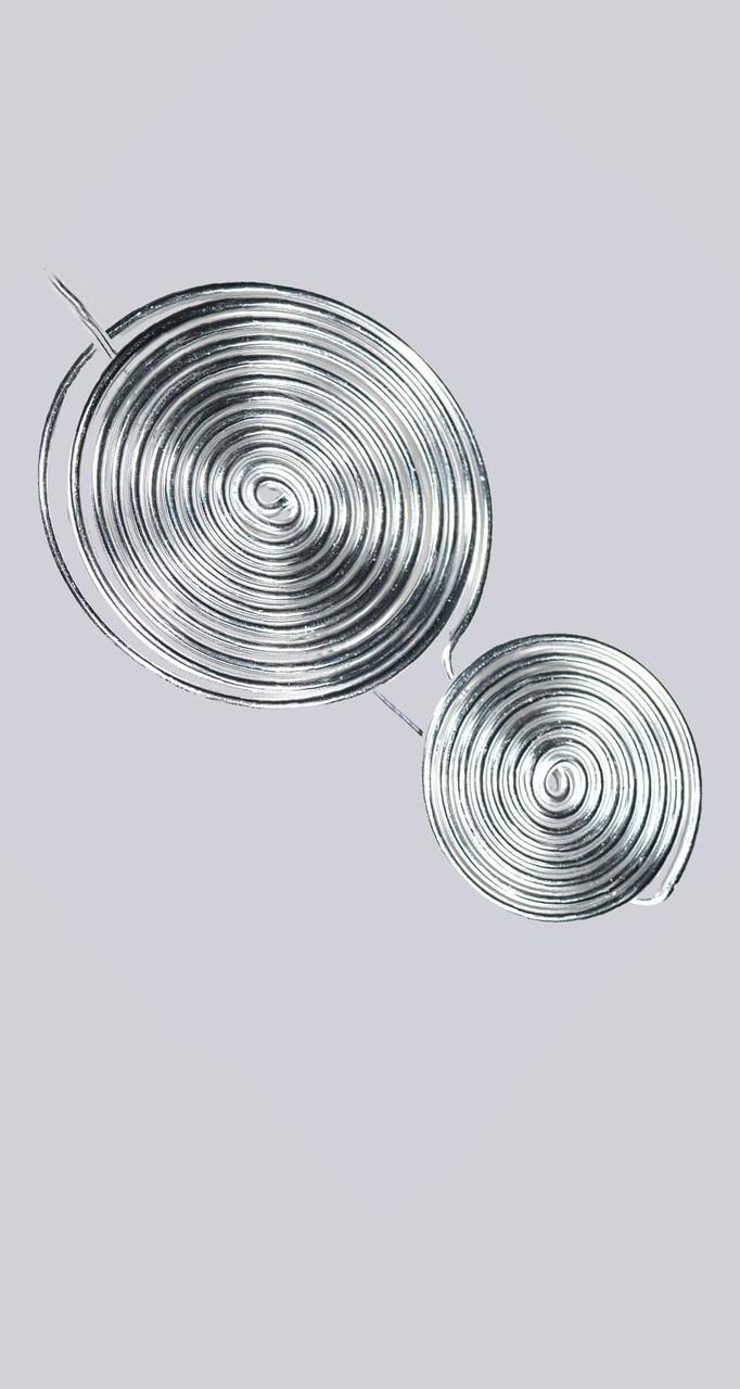 Wunderschöne Lagenlook Schalbrosche Beeli.  Silberfarben. Zum befestigen an Schals. My-Levanjo Design.