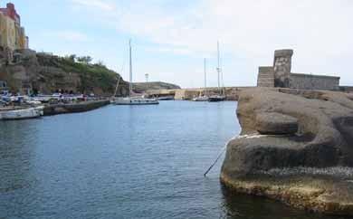 Römischer Hafen Ventotene, Italien