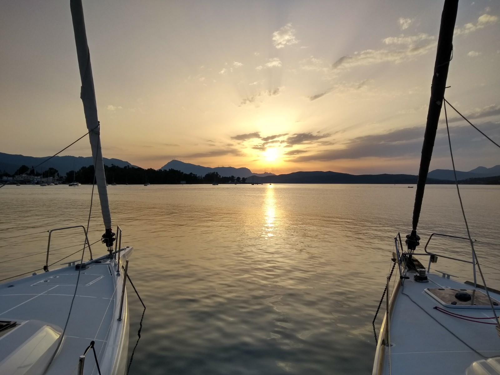 Abendsonne auf Poros