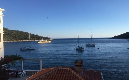 Blick vom Pool auf die Bucht Saplunara (Insel Mljet), Konoba Kod Ante