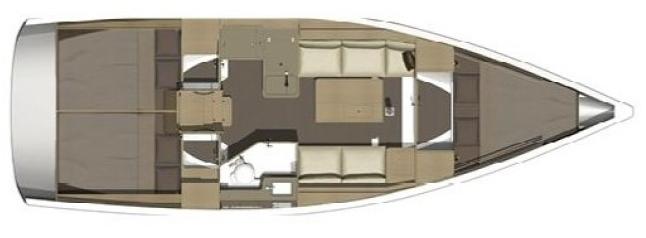 Dufour 350 Schiffsriss