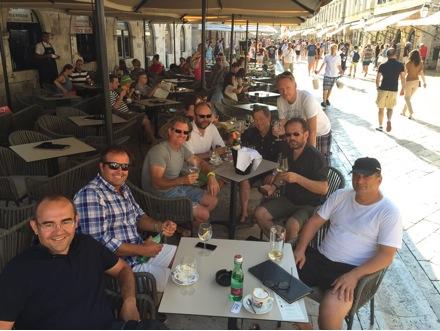 Die Crew der DM One, Dubrovnik