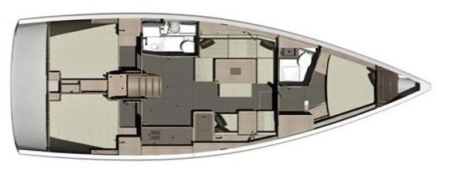 Dufour 412 Schiffsriss