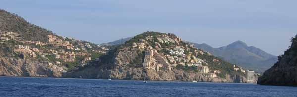 Einfahrt nach Puerto Andraitx, Südküste Mallorca