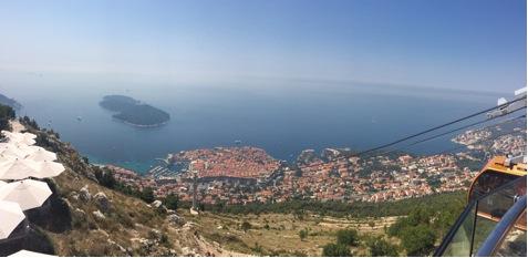 Dubrovnik von oben, Ausflug mit der Gondel zum alten Fort