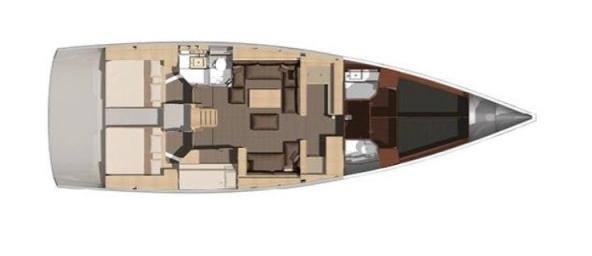 Dufour 512 Schiffsriss
