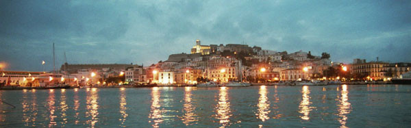Blick auf die Altstadt Ibiza