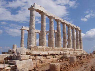 Poseidon-Tempel am Kap Sounion