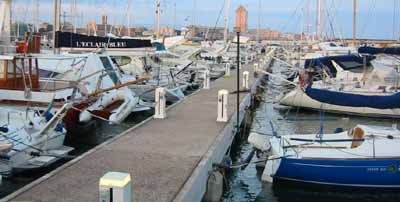 Hafen Nettuno, Italien Festland