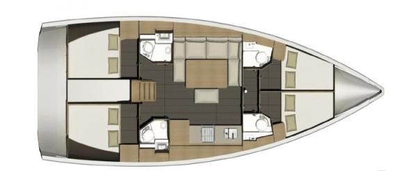 Dufour 460 Schiffsriss