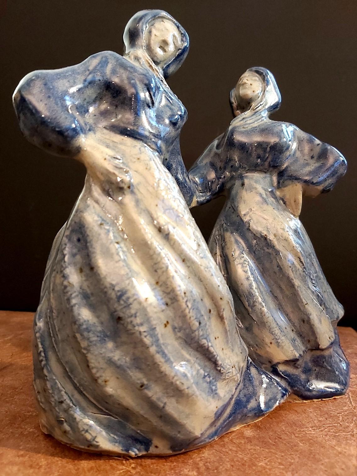 "Miniatur-Plastik, Blaumalerei, ""DER TANZ"", 2019"