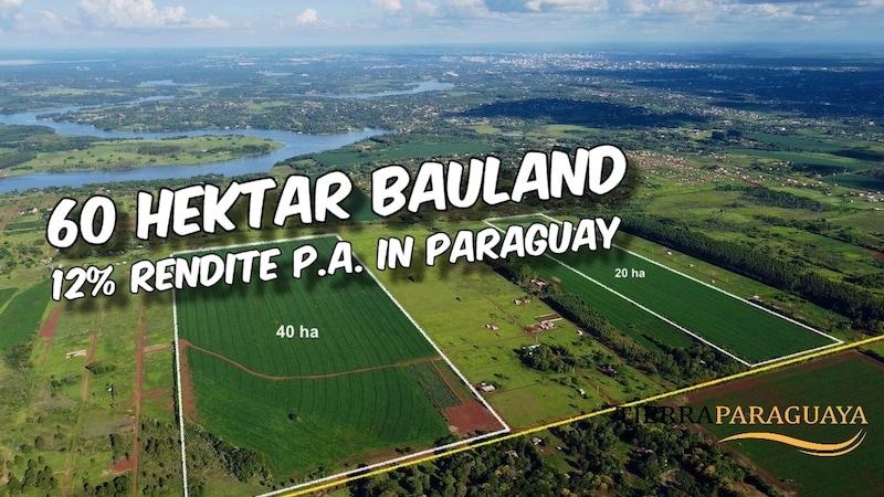 60 Hektar Bauland in Paraguay (Rendite 12% p.a.) #200