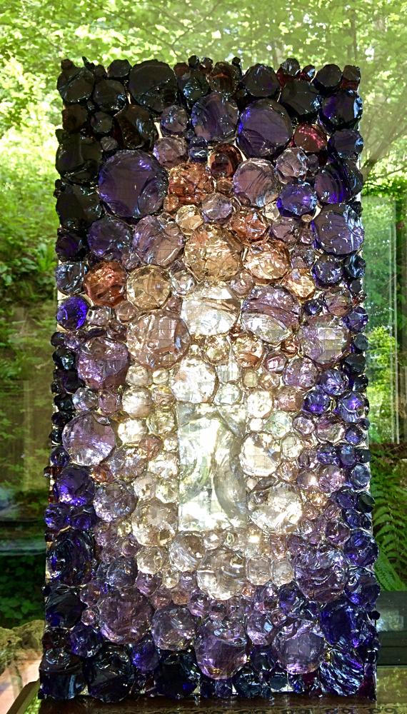 Dalle de verre et résine : 30cmx60cm