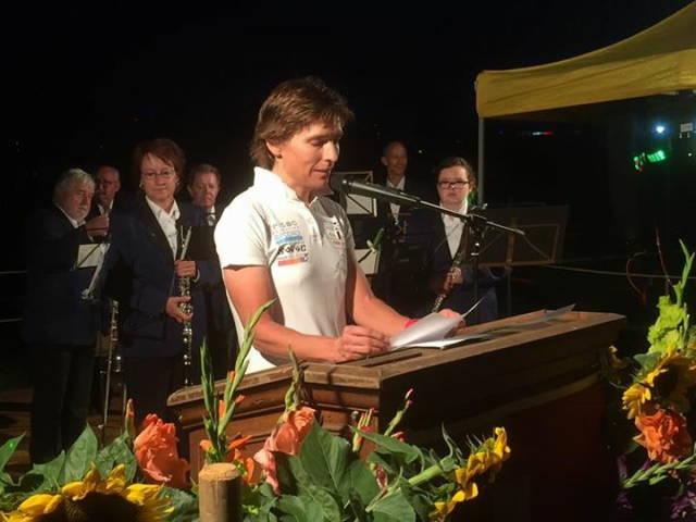 Isa spricht am 1. August 2017 in Ittigen