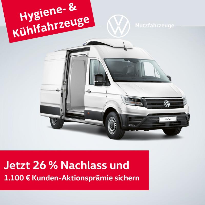 Crafter Hygiene- & Kühlfahrzeuge - bis 30.06.2021