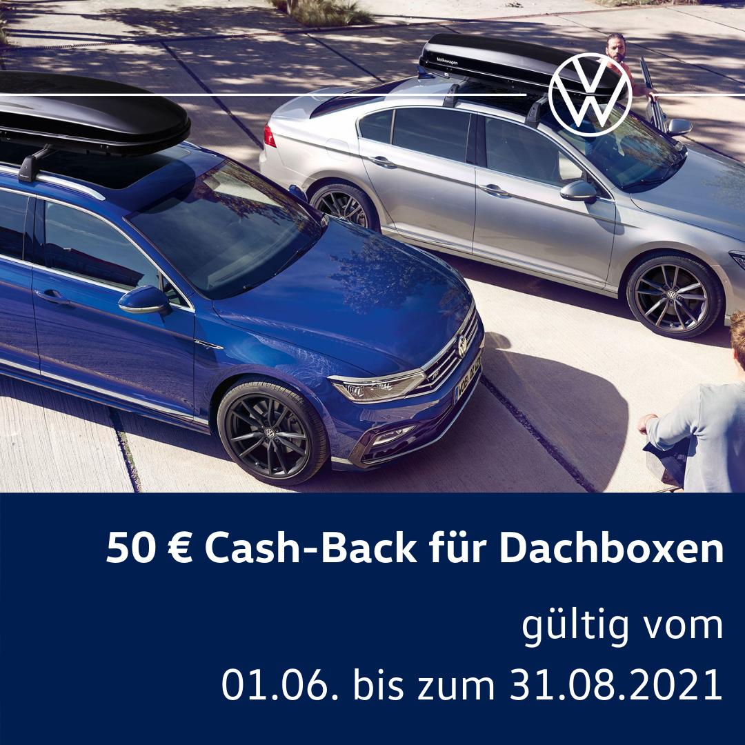 Cash-Back für Dachboxen - gültig bis 31.08.2021