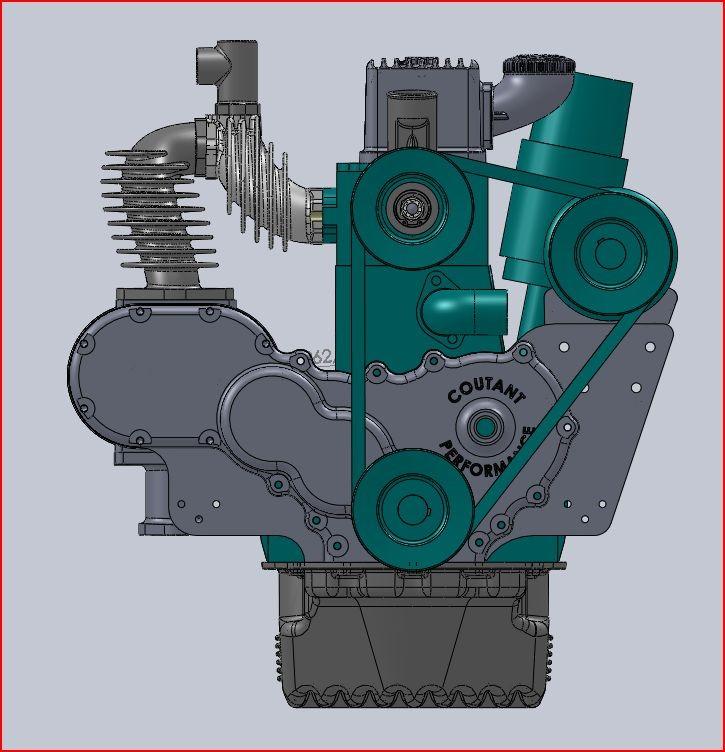 Etude numérique pour moteur Simca-Fiat avec compresseur Cozette