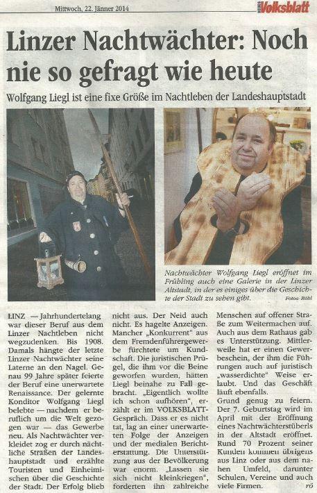 Volksblatt - Mittwoch, 22. Jänner 2014