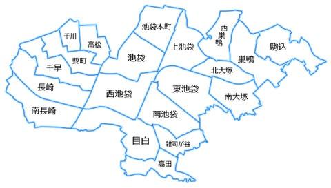 豊島区の地図