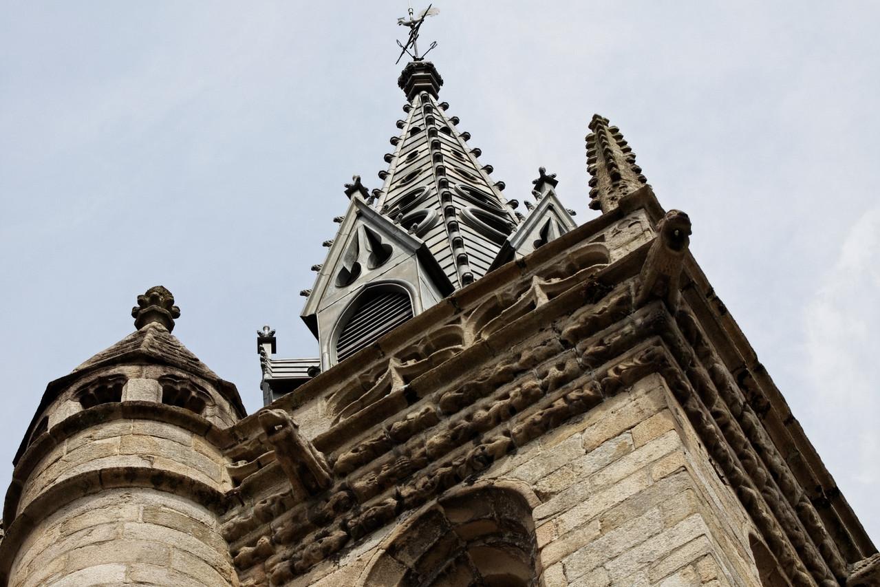 Détail du clocher - Eglise Saint Melaine (MORLAIX)