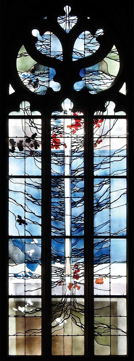 L'Arbre de Jessé (vitrail de la chapelle de l'Isle)