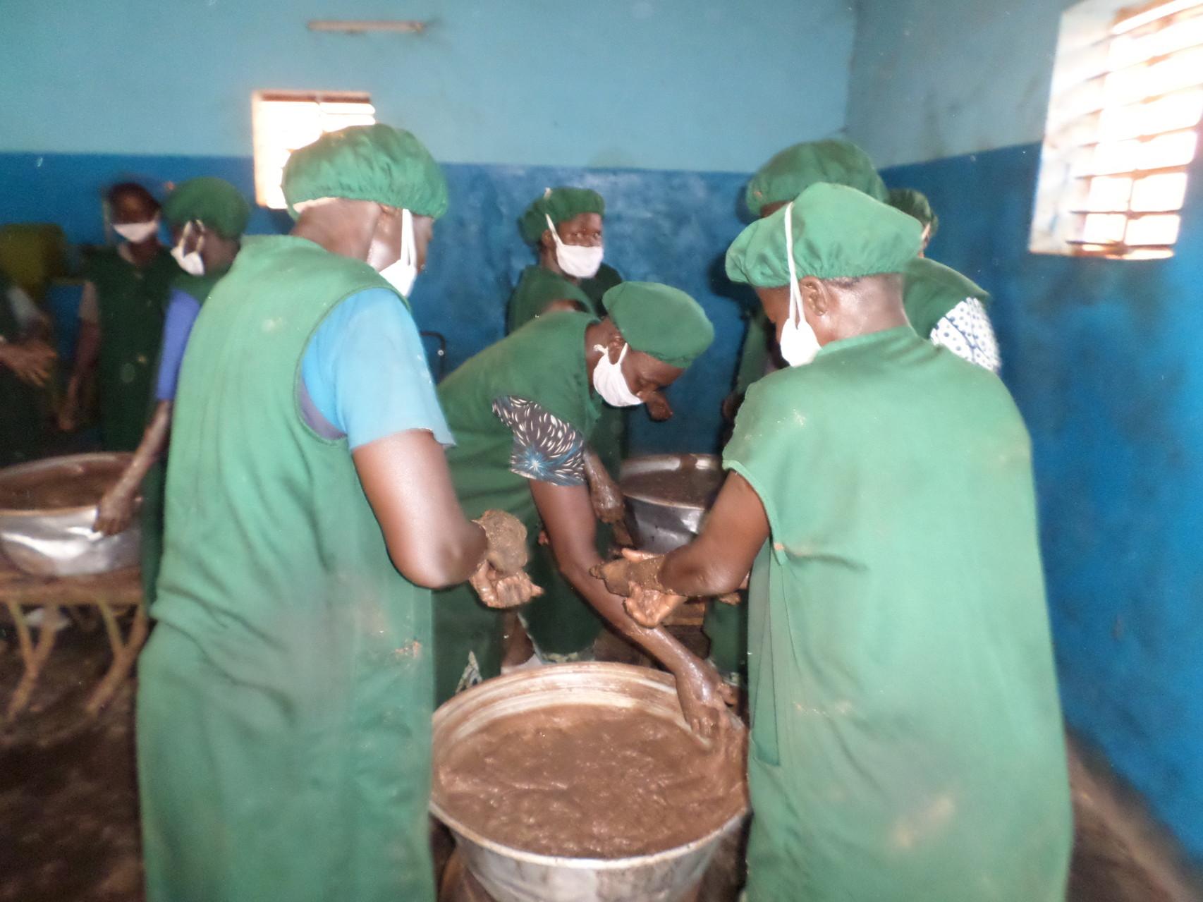 Fabrique de beurre de Karité