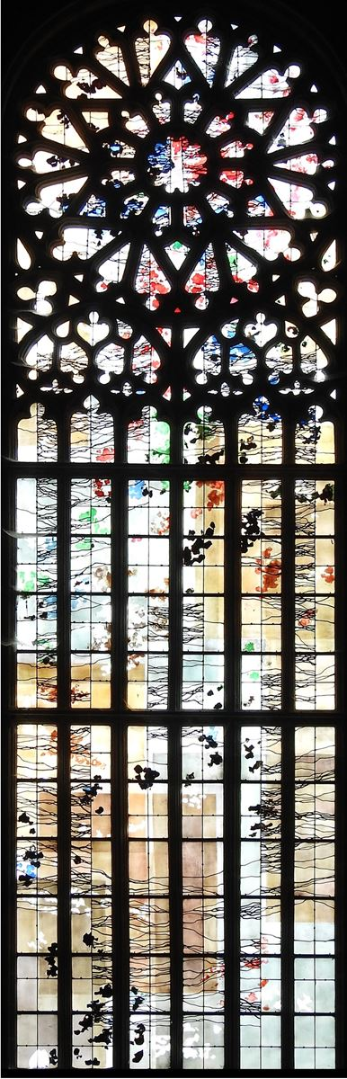 Le Baptême du Christ (vitrail du chevet)