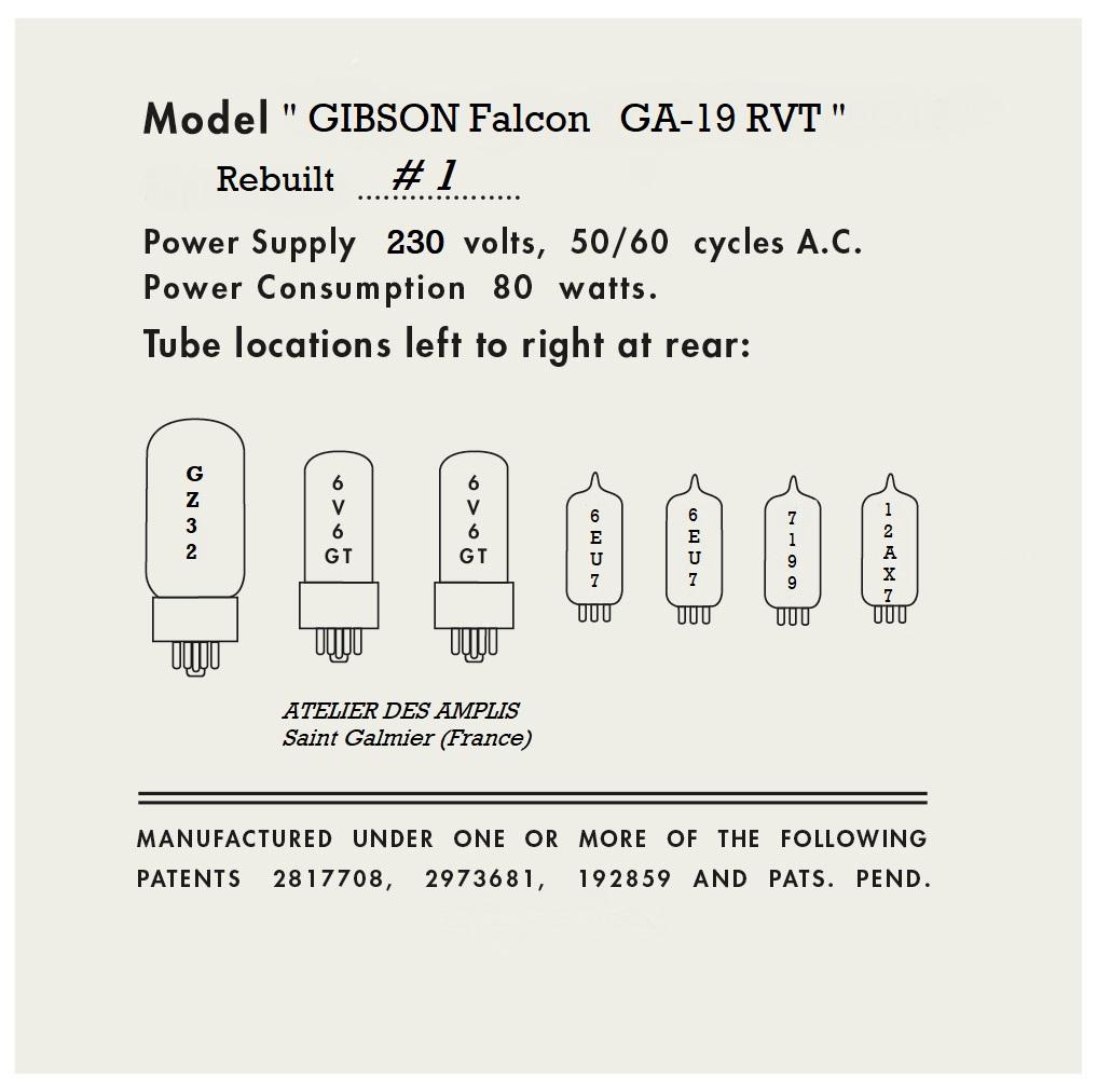 Gibson Falcon GA 19 RVT repro