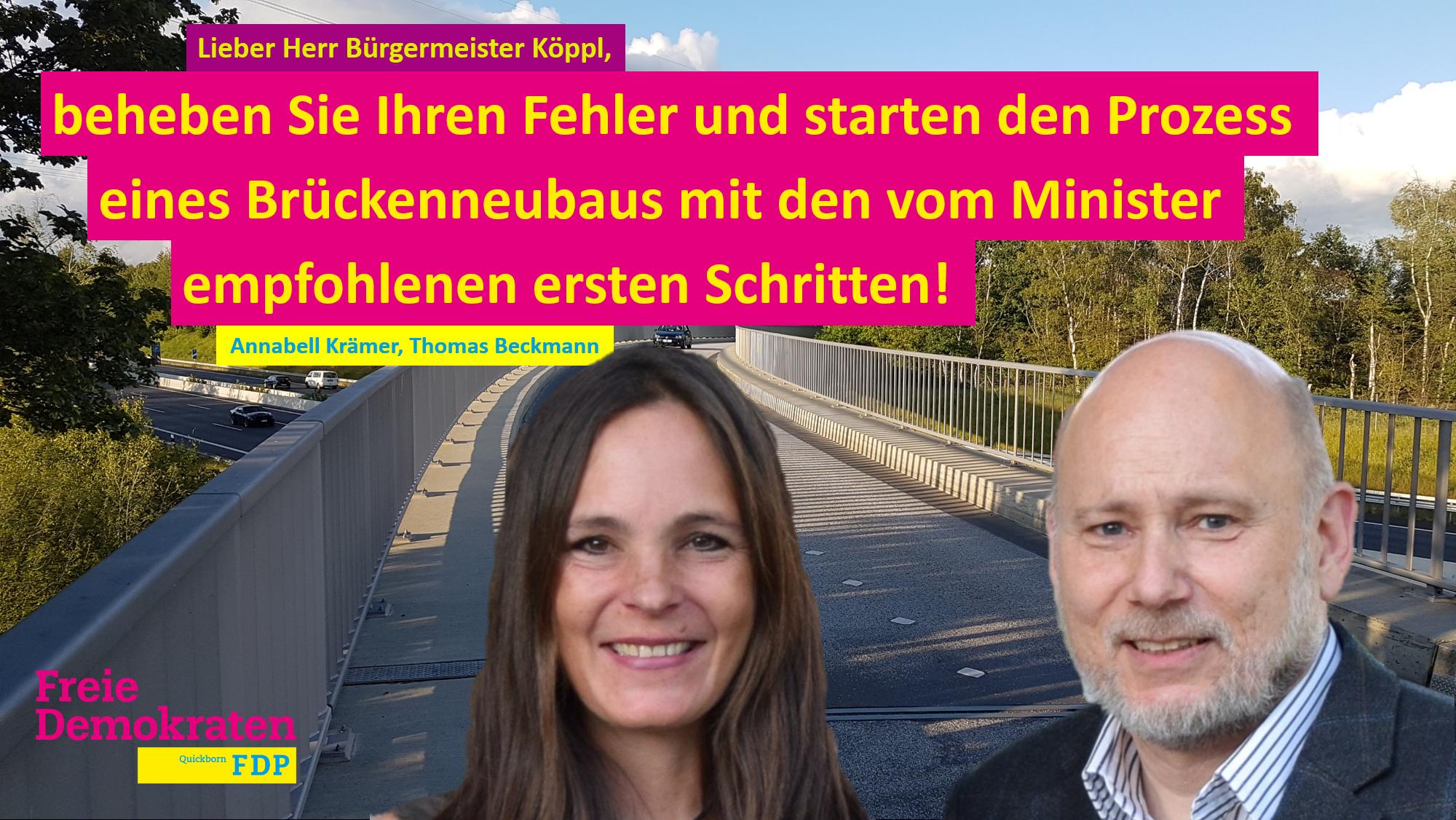 Engstelle Brücke Ulzburger Landstraße: Minister zeigt in seinem Antwortschreiben Lösungsweg auf!