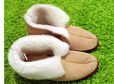 chaussons de laine
