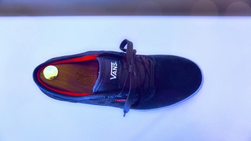 graue Rauleder-Sneaker VANS
