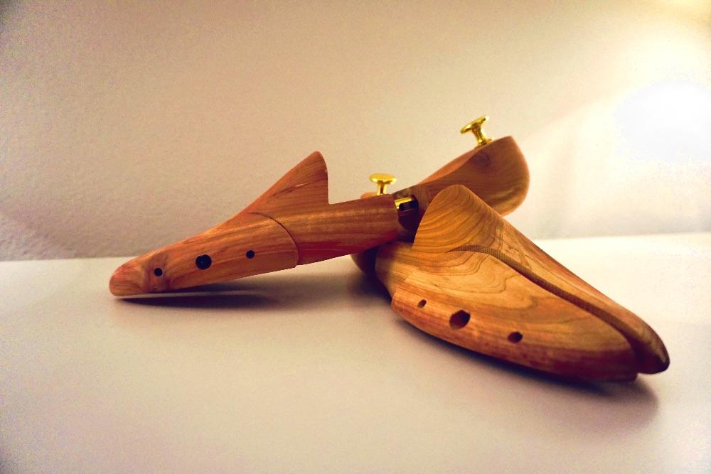 echtes Zedernholz & 3-teiliger Schuhspanner
