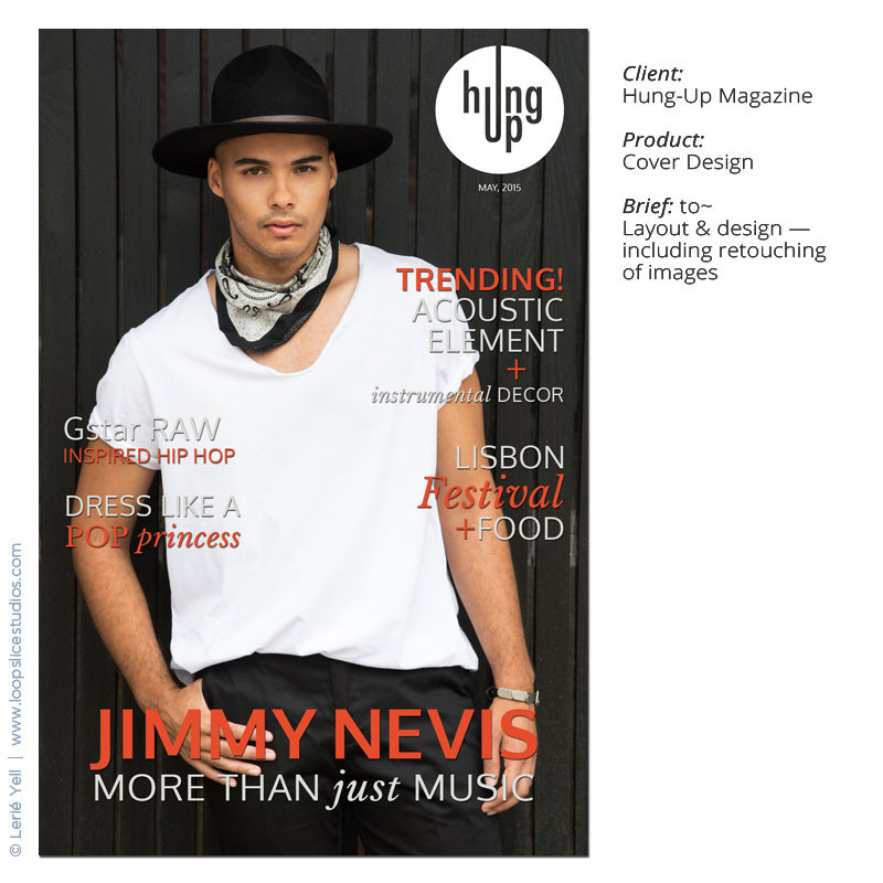graphic designer, Hung-Up online Magazine, retouching