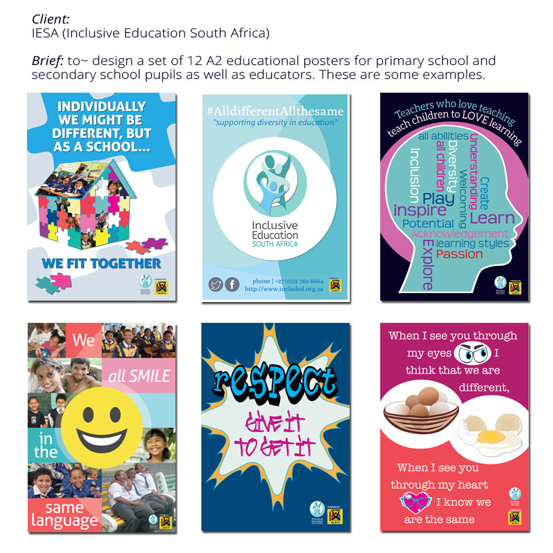 graphic design, Inclusive Education South Africa