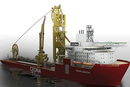 """Abbildung 9: Darstellung der """"Ceona Amazon"""", (Quelle Lloyd Werft Bremerhaven)"""